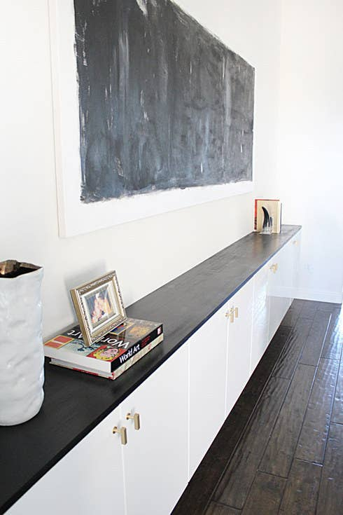 Floating Kitchen Cabinets Are Low Profile Enough To Be Used As A Hallway Or Dining Room Console