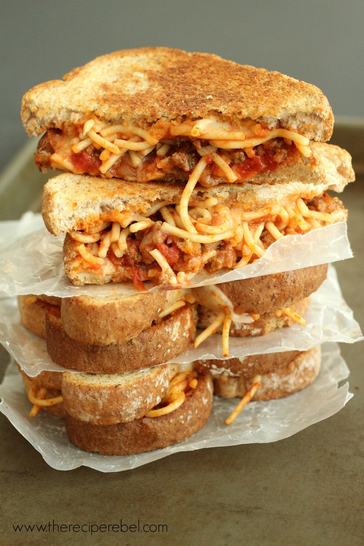 It's like the sandwich has little spaghetti arms, reaching out to you. Calling to you. Get the recipe.