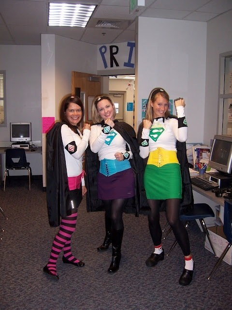 Super-Teachers. Here you come to save the day! This costume can be created quickly by adding  sc 1 st  BuzzFeed & 31 Amazing Teacher Halloween Costumes