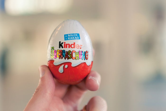 Countries of origin: Italy, Germany, and other European countriesWhy it's banned: The fun of Kinder Surprise chocolate eggs comes from the (inedible) toy that's hidden inside the egg in a plastic capsule...and the U.S. government will have none of it. A 1938 federal law bans toys or any non-edible objects to be embedded within food products, meaning the only surprise Americans get is a potential fine and confiscation of their delicious chocolates at the border. Every year, tens of thousands of Kinder eggs are seized by U.S. customs.
