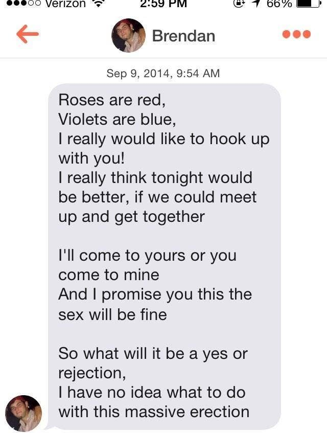 creepy tinder messages