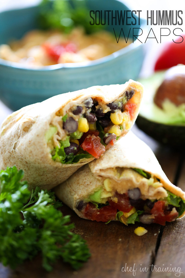 Southwest Hummus Wraps