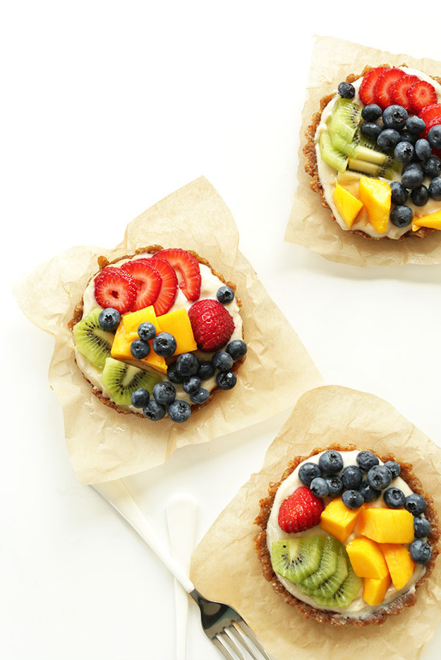 No Bake Lemon Cookie Fruit Tarts