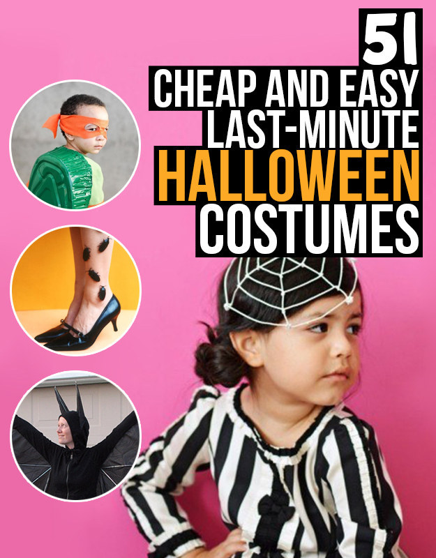 Share On Facebook Share ...  sc 1 st  BuzzFeed & 51 Cheap And Easy Last-Minute Halloween Costumes