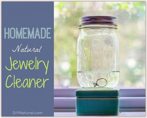 Make your own all-natural jewelry cleaner.