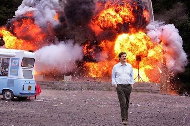 Image result for walking away from explosion