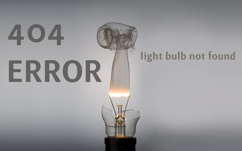 How Many Webmasters Does It Take To Change A Light Bulb?  404.