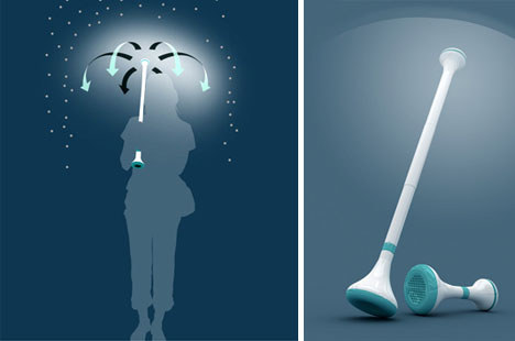 "Amazingly Neat ""Umbrella"" Uses Air To Propel Rain Away From You (And Onto People Nearby)"