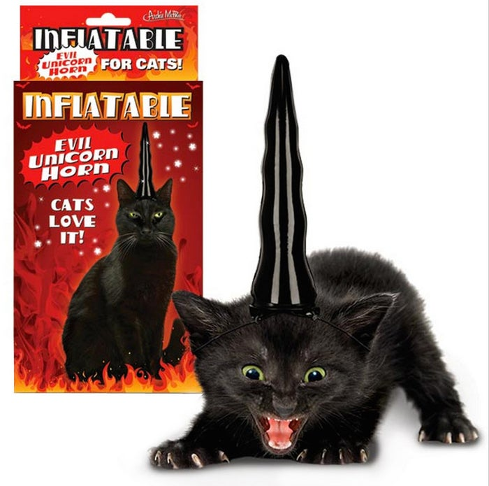 Is the horn evil or is it for evil cats? Because if you're about to purchase something that summons the dark forces, you need to know.