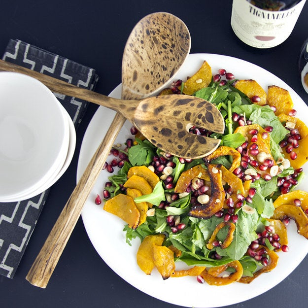 Roasting winter squash for this salad means at the end of the day your place will smell wonderful AND you'll have a beautiful dinner to put on the table. Recipe here.