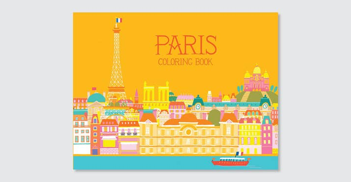 paris coloring book - Paris Coloring Book