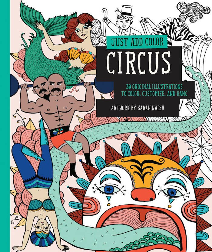 You'll be the (colo)ring master of this circus artwork by Sarah Walsh.