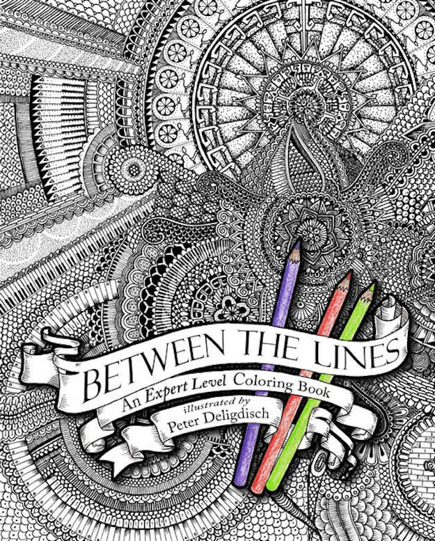 Between The Lines An Expert Level Coloring Book