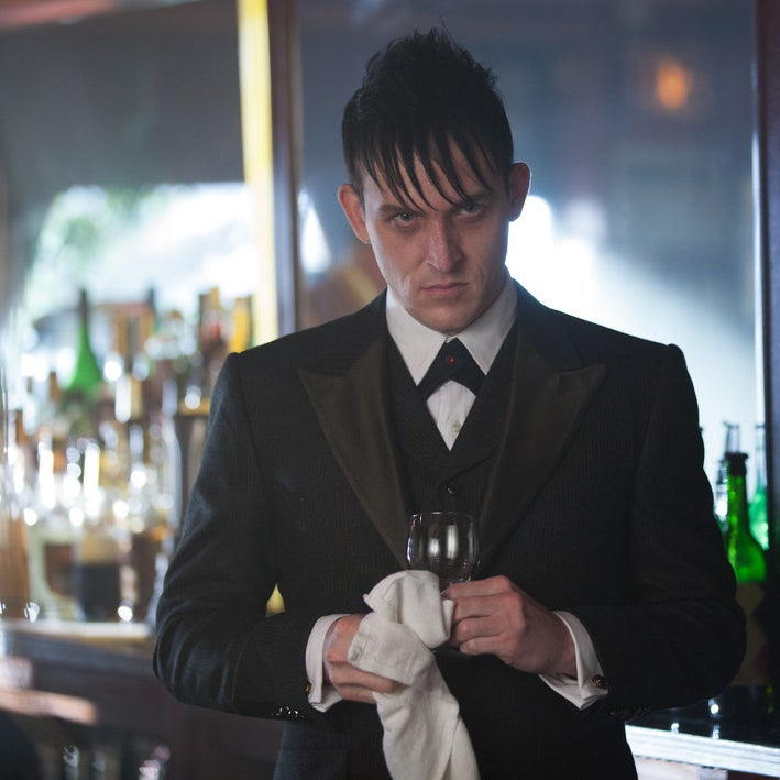 Taylor as Oswald Cobblepot on Gotham.