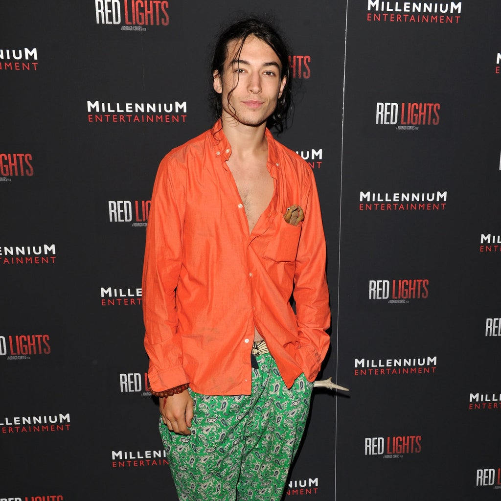 Ezra Miller, who will star in 2018's The Flash movie.