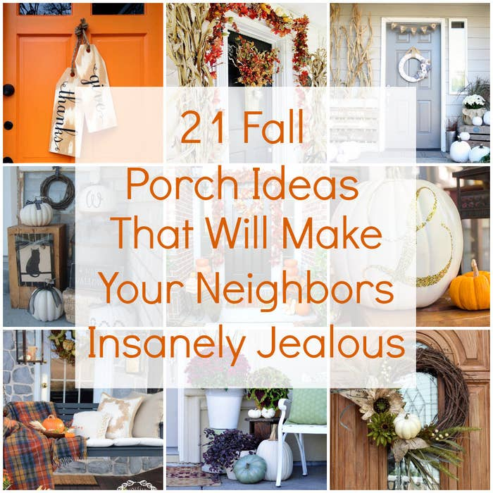Diy Fall Door Decorations: 21 Fall Porch Ideas That Will Make Your Neighbors Insanely