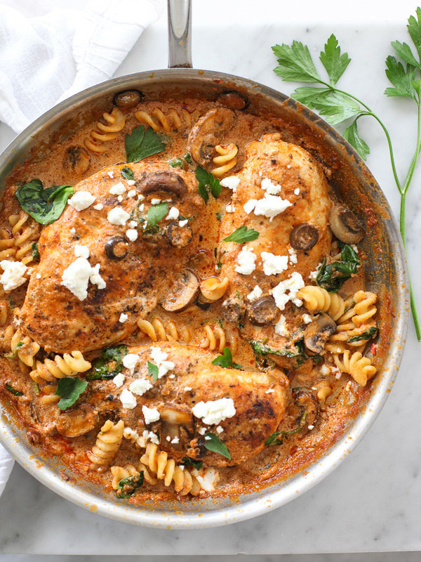 Dinner Party Recipes Ideas Part - 36: 2. One-Pan Chicken With Creamy Sun-Dried Tomato Pesto Sauce