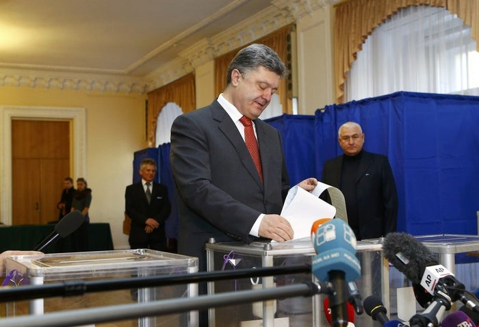 Poroshenko's result is a far weaker endorsement of his plan to end the war in Ukraine's eastern provinces than in May, when he won 55 percent of the votes in the presidential race. Since then, Russian troops turned back Poroshenko's offensive to reclaim two rebel-held provinces in the east, forcing him to sign an unpopular ceasefire that essentially concedes territory to the self-proclaimed Donetsk and Luhansk People's Republics.