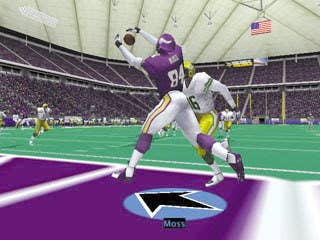 Randy Moss is currently second all-time in career touchdown receptions and in the NFL 2K series Moss was an endzone threat on any play. With Randy Moss as your wideout you were only one Hail Mary pass away from scoring.