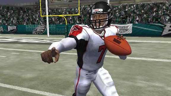 When you make a player that is not only faster than most running backs and wideouts and give him a strong arm you are bound to create a super character. In Madden 04 if you had Michael Vick all you had to do was run around in your back field along enough until a receiver got open and then all you had to do was chuck a pass for an easy score.