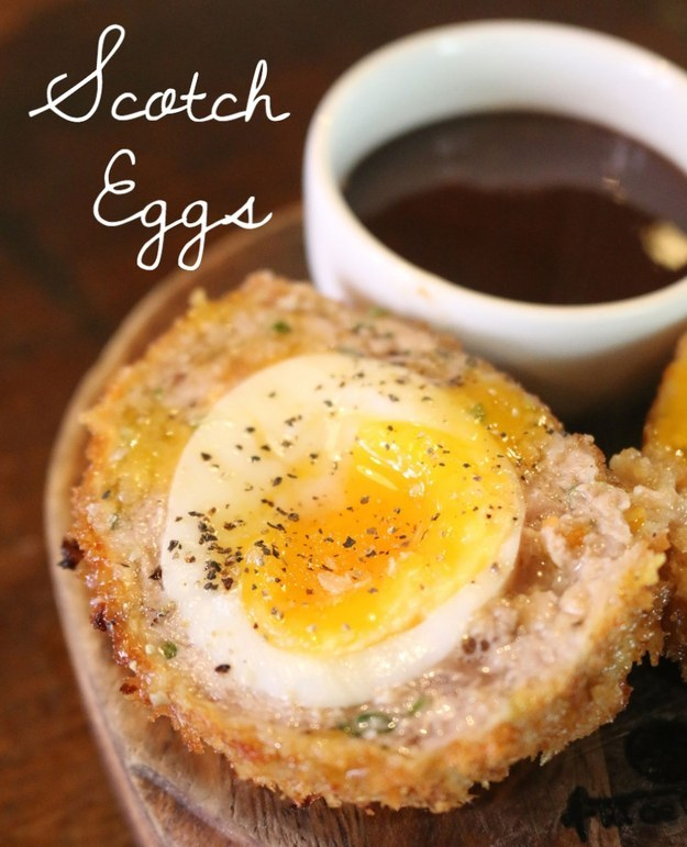 Heart-stopping Scotch eggs.