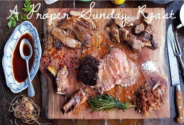 A proper Sunday roast.