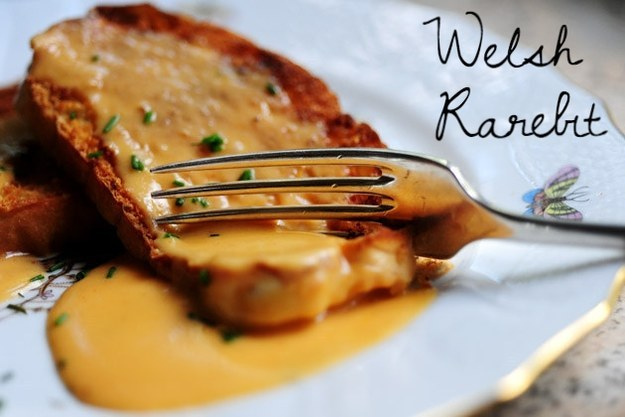 Better-than-fondue Welsh rarebit.