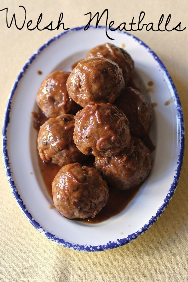 Mouthwatering Welsh meatballs.