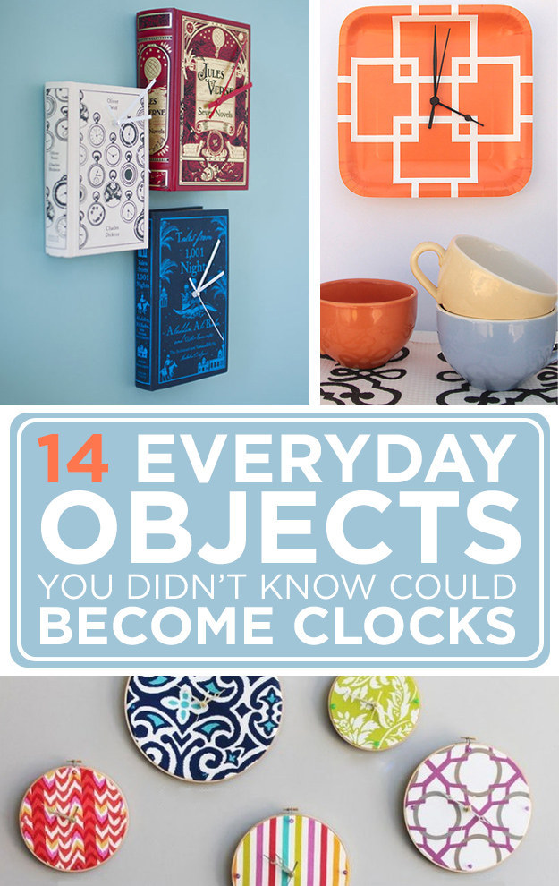 14 everyday objects you didn 39 t know could become clocks for Home decor quiz buzzfeed