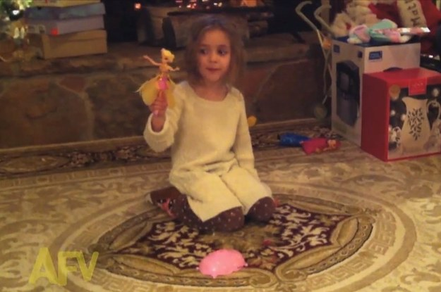 This Little Girl Accidentally Launches Her New Flying Fairy Toy ...