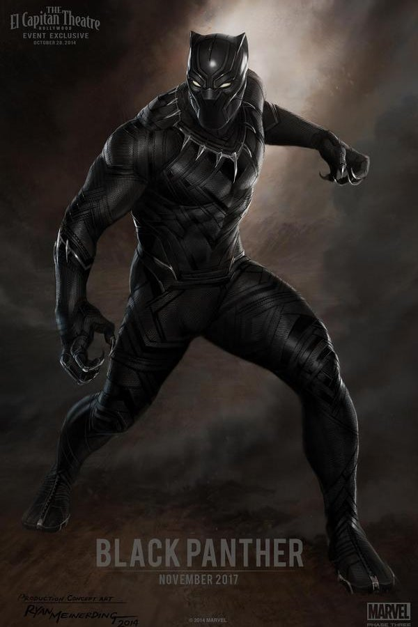 The Black Panther poster presented at Marvel Studios event