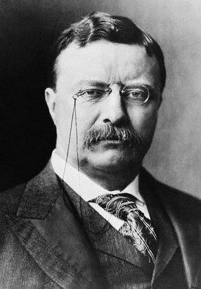 Teddy Roosevelt is the most recognizable figure from the turn of the century who donned a pair of glasses daily. He was often photographed or painted with his famous spectacles. The popular look for the time period was an understated Pince-Nez (pinch nose) eyeglasses often worn from around 1870 to 1920. The design was simple with two modestly framed lenses connected by a nose piece that held the glasses on the face. According to Dr. Bishop & Associates, after World War I, this style was viewed as old-fashioned, and lacking style.