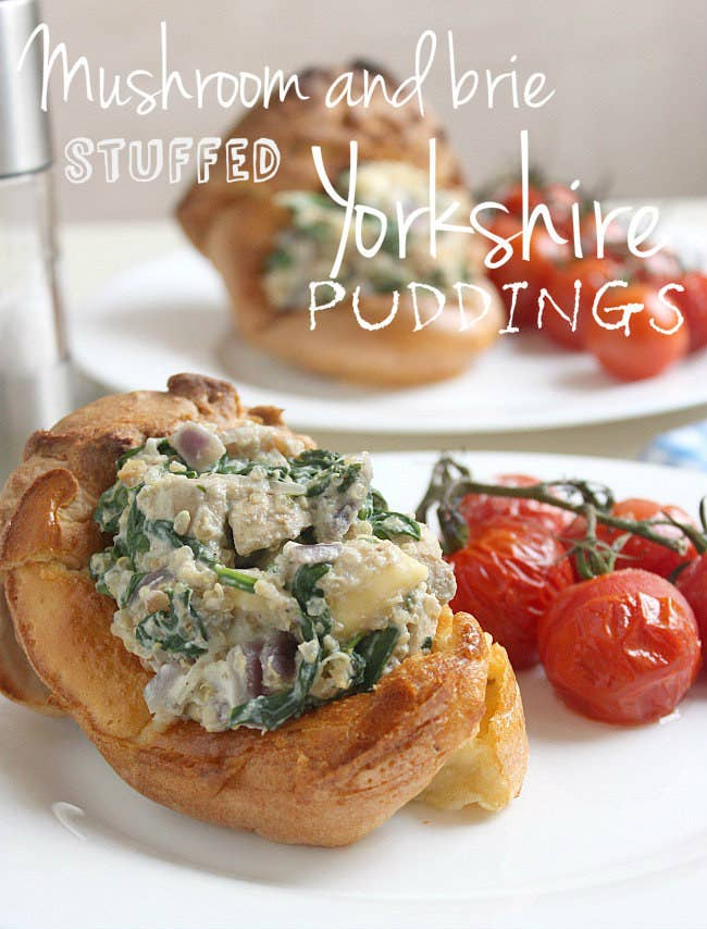 15 insanely delicious yorkshire pudding recipes mushroom and brie stuffed yorkshire puddings with a quinoa base these are surprisingly hearty get the recipe here forumfinder Images