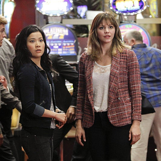 """With Jadyn Wong in the Vegas-set episode """"Shorthanded."""""""
