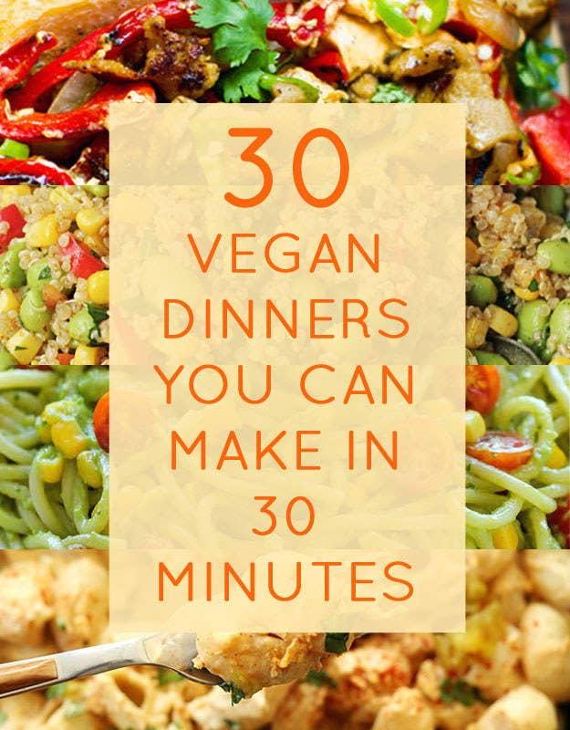 30 quick vegan dinners that will actually fill you up share on facebook share forumfinder Images
