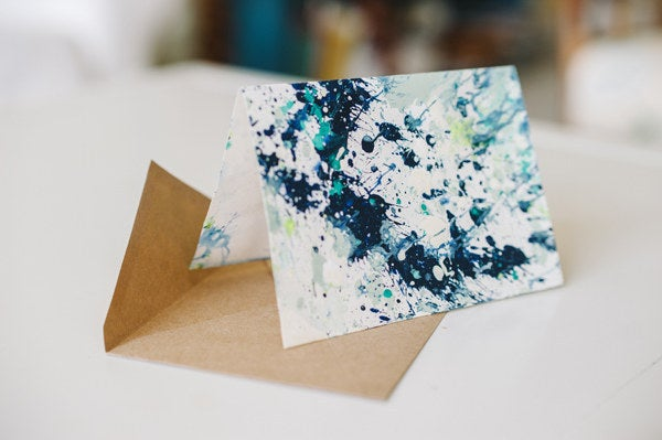 Channel your inner Jackson Pollock with these arty cards. Your friends will think you spent $6 for these at a museum gift shop. Get the DIY instructions at Elizabeth Anne Designs.