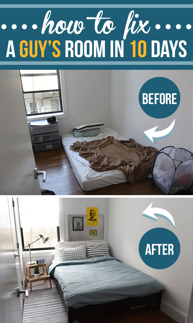 Room Design Ideas For Guys: How To Fix A Guy's Room In 10 Days