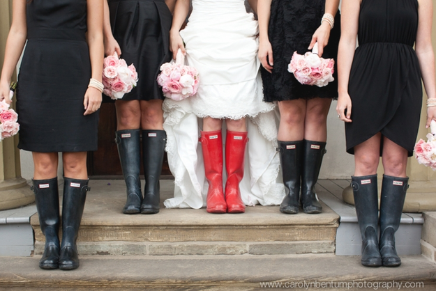 Wellies for wedding photography ideas for rainy days