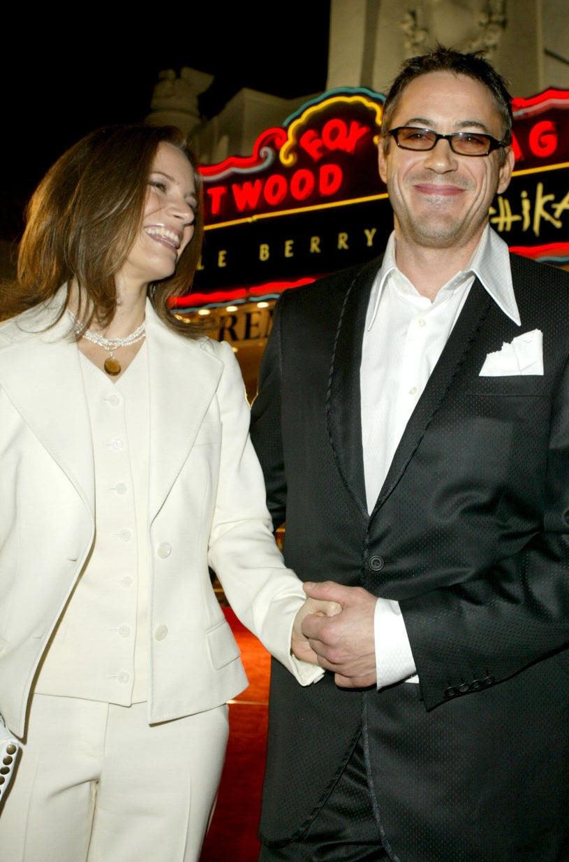 Susan Downey (née Levin) and Robert Downey Jr. at the Gothika L.A. premiere in 2003…