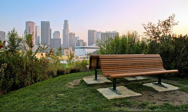 Want a great view of the city skyline? Look no further! This little patch of green is just right outside on the outskirts of downtown! Great for picnics!