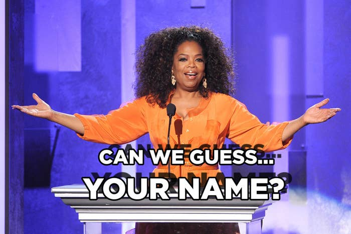Can We Guess Your First Name?