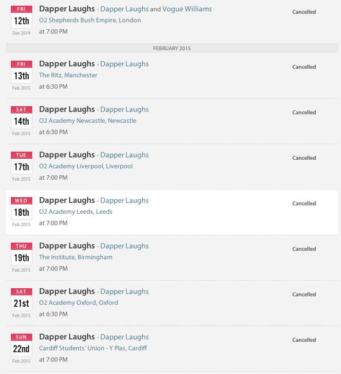 Dapper Laughs' UK Tour Has Been Cancelled