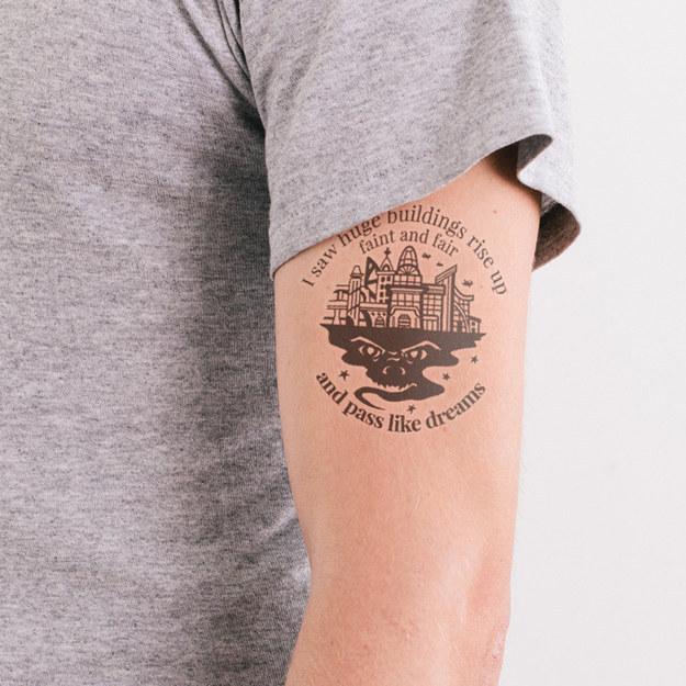 Tattoo Designs Book: 21 Literary Temporary Tattoos Every Book Lover Needs