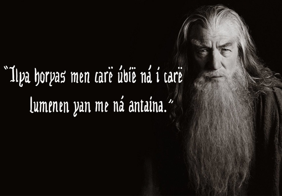 if the lord of the rings quotes were elvish motivational