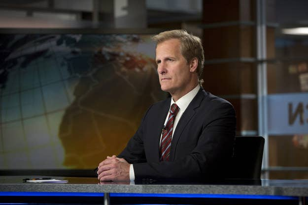 Jeff Daniels as Will McAvoy on a Season 2 episode of The Newsroom.