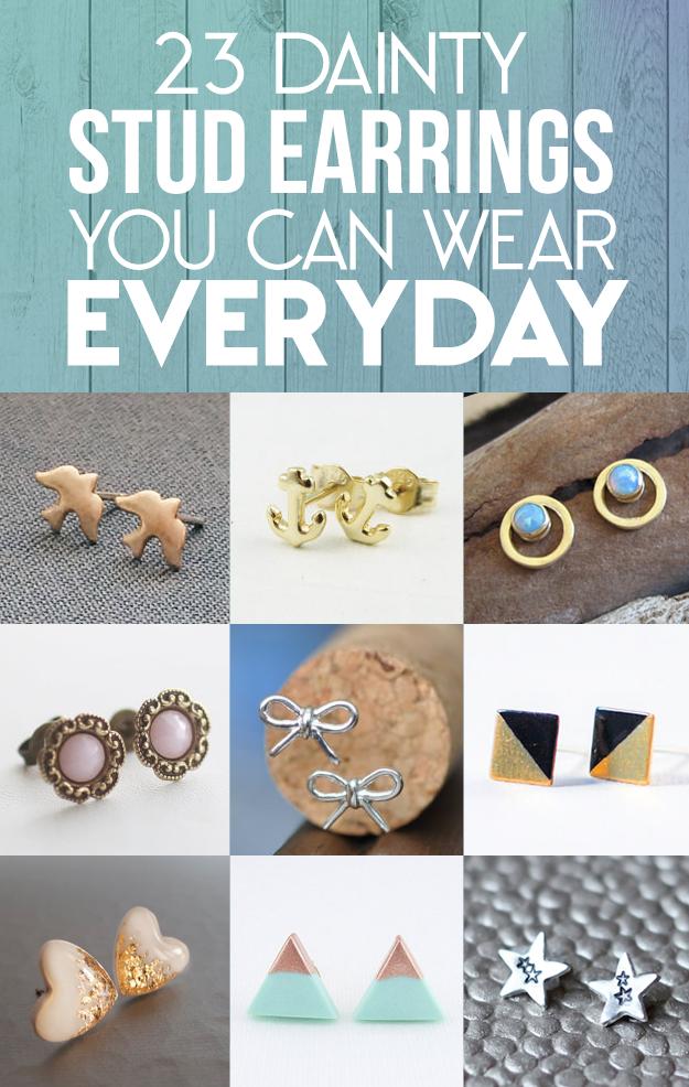 23 Dainty Stud Earrings You Can Wear Everyday