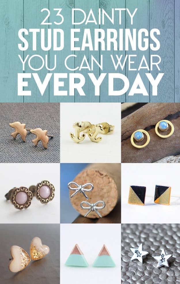 1d760cc16 23 Dainty Stud Earrings You Can Wear Everyday