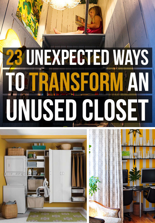 Turn That Unused Room Of The House Into This: 23 Unexpected Ways To Transform An Unused Closet