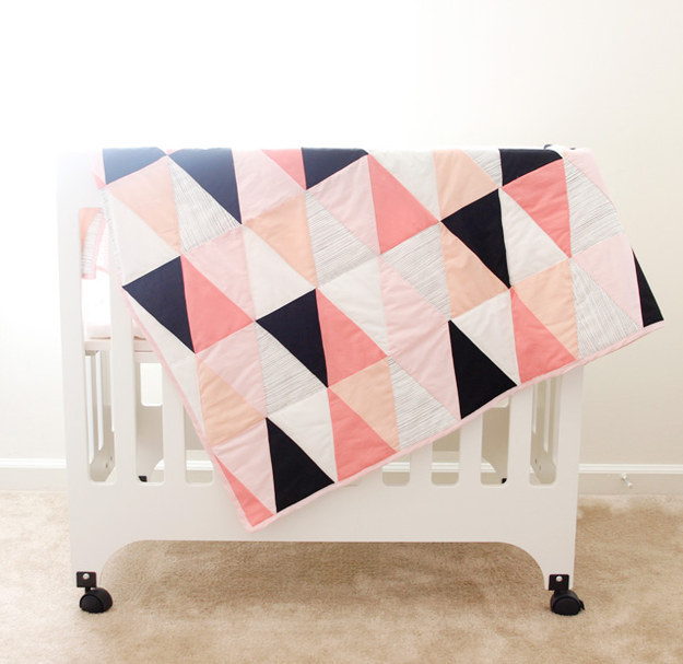 Make or order a modern quilt or blanket.
