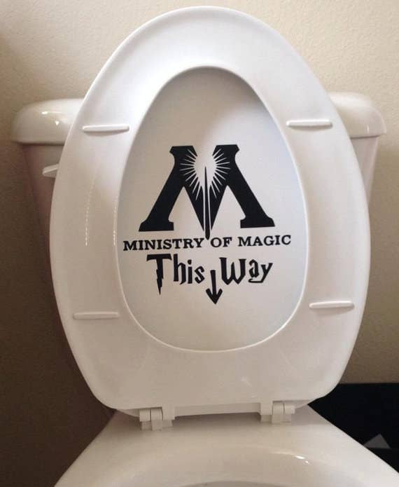 """""""Hey, why is there graffiti on your toilet?"""" the unsuspecting muggle asks."""